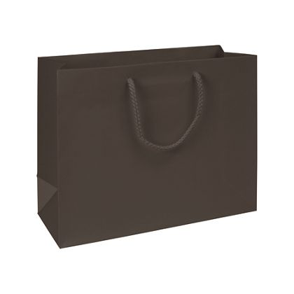 Premium Chocolate Matte Euro-Shoppers, 13 x 5 x 10