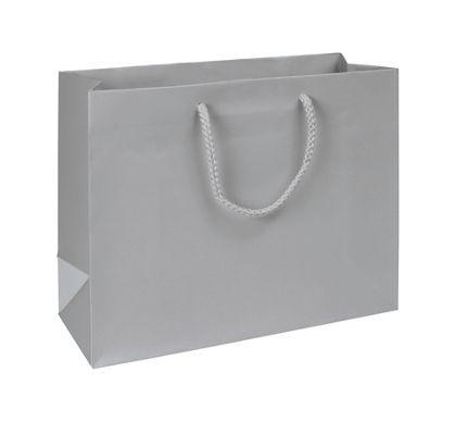 """Premium Silver Matte Euro-Shoppers, 13 x 5 x 10"""""""