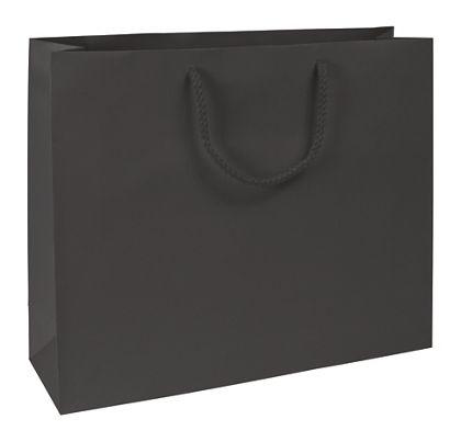 "Premium Black Matte Euro-Shoppers, 16 x 4 3/4 x 13"""