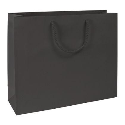 Premium Black Matte Euro-Shoppers, 16 x 4 3/4 x 13
