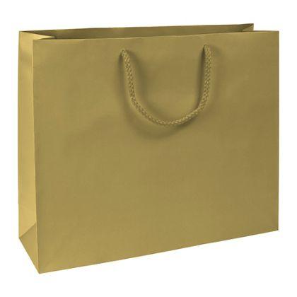 Premium Gold Matte Euro-Shoppers, 16 x 4 3/4 x 13
