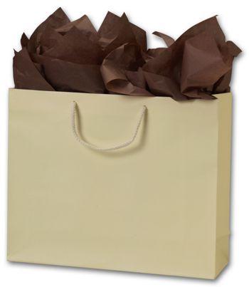 Premium Ivory Matte Euro-Shoppers, 16 x 4 3/4 x 13