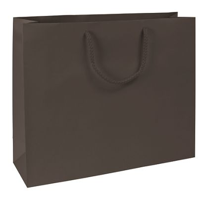 Premium Chocolate Matte Euro-Shoppers, 16 x 4 3/4 x 13""