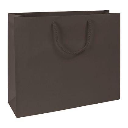 Premium Chocolate Matte Euro-Shoppers, 16 x 4 3/4 x 13
