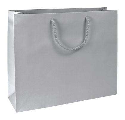 """Premium Silver Matte Euro-Shoppers, 16 x4 3/4 x 13"""""""