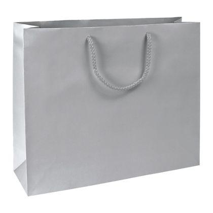 Premium Silver Matte Euro-Shoppers, 16 x4 3/4 x 13