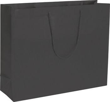Premium Black Matte Euro-Shoppers, 20 x 6 x 16