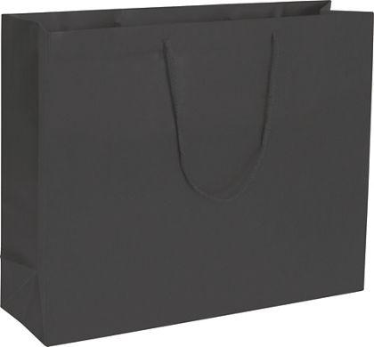 "Premium Black Matte Euro-Shoppers, 20 x 6 x 16"""