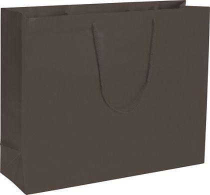"Premium Chocolate Matte Euro-Shoppers, 20 x 6 x 16"""