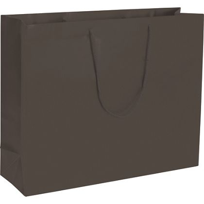 Premium Chocolate Matte Euro-Shoppers, 20 x 6 x 16""