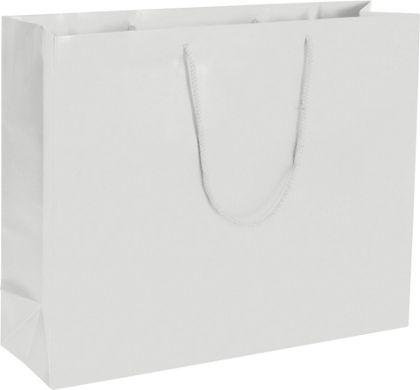 "Premium White Matte Euro-Shoppers, 20 x 6 x 16"""