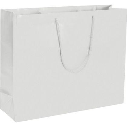 Premium White Matte Euro-Shoppers, 20 x 6 x 16