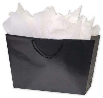 Black Matte Laminated Trapezoid Euro Shoppers