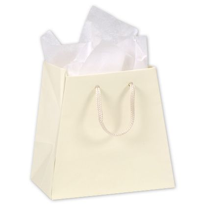 Ivory Matte Laminated Inverted Trapezoid Euro-Shoppers