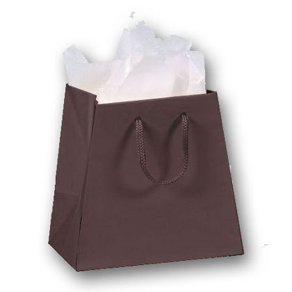Chocolate Matte Laminated Inverted Trapezoid Euro-Shoppers