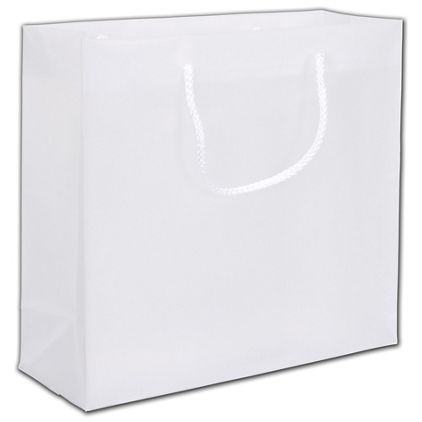 """Clear Frosted Euro-Totes, 12 x 4 1/2 x 10"""""""