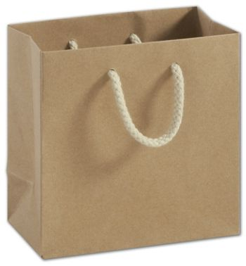 Recycled Kraft Groove Euro-Shoppers, 6 1/2x3 1/2x6 1/2