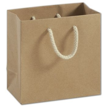 Recycled Kraft Groove Euro-Shoppers, 6 1/2x3 1/2x6 1/2""