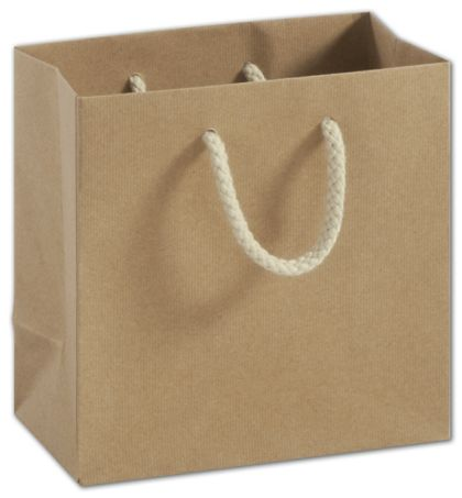 """Recycled Kraft Groove Euro-Shoppers, 6 1/2x3 1/2x6 1/2"""""""