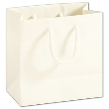 Recycled White Kraft Groove Euro-Shoppers, Small