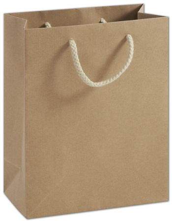 Recycled Kraft Groove Euro-Shoppers, 8 x 4 x 10