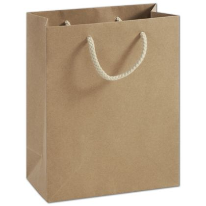 Recycled Kraft Groove Euro-Shoppers, 8 x 4 x 10""