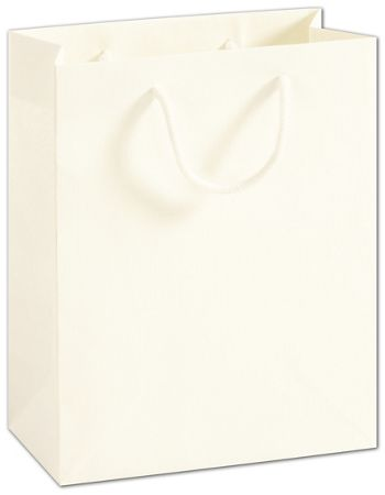 Recycled White Kraft Groove Euro-Shoppers, 8 x 4 x 10
