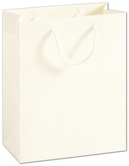 """Recycled White Kraft Groove Euro-Shoppers, 8 x 4 x 10"""""""