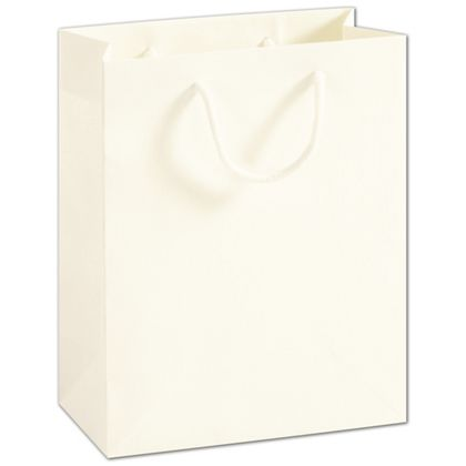 Recycled White Kraft Groove Euro-Shoppers, 8 x 4 x 10""