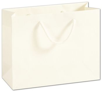 Recycled White Kraft Groove Euro-Shoppers, 9 x 3 1/2 x 7