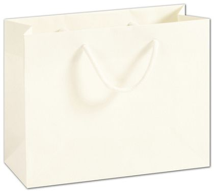 Recycled White Kraft Groove Euro-Shoppers, 9 x 3 1/2 x 7""