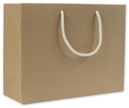 Recycled Kraft Groove Euro-Shoppers, 13 x 5 x 10""