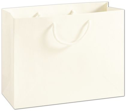 """Recycled White Kraft Groove Euro-Shoppers, 13 x 5 x 10"""""""