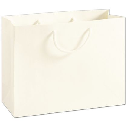 Recycled White Kraft Groove Euro-Shoppers, 13 x 5 x 10""
