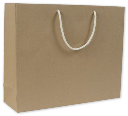 Recycled Kraft Groove Euro-Shoppers, 16 x 4 3/4 x 13""