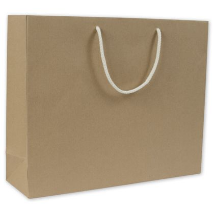 Recycled Kraft Groove Euro-Shoppers, 16 x 4 3/4 x 13