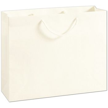 Recycled White Kraft Groove Euro-Shoppers, 16x4 3/4x13