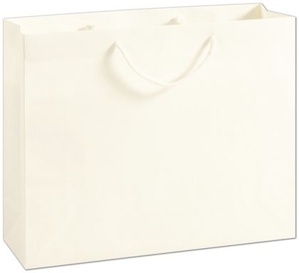 Recycled White Kraft Groove Euro-Shoppers, 16x4 3/4x13""