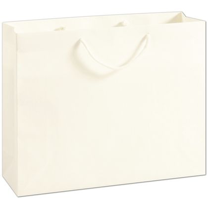 """Recycled White Kraft Groove Euro-Shoppers, 16x4 3/4x13"""""""