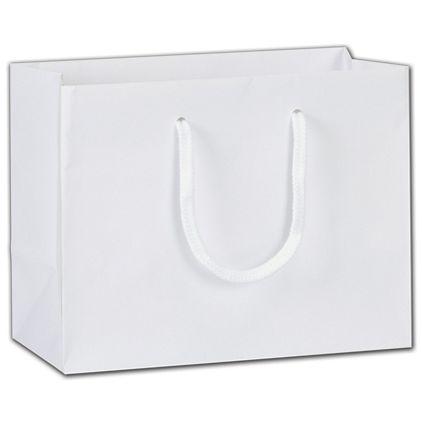 """White Soft-Touch Euro-Totes, 9 x 4 1/2 x 7"""""""