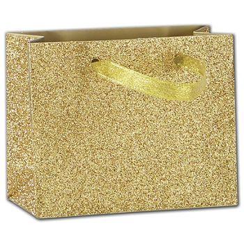 Gold Sparkle Euro-Totes, 4 x 2 x 5