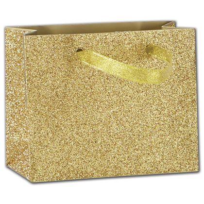 """Gold Sparkle Euro-Totes, 4 x 2 x 5"""""""