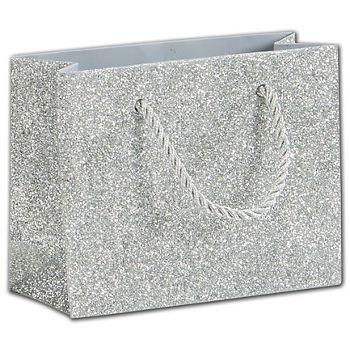 Silver Sparkle Euro-Totes, 4 x 2 x 5