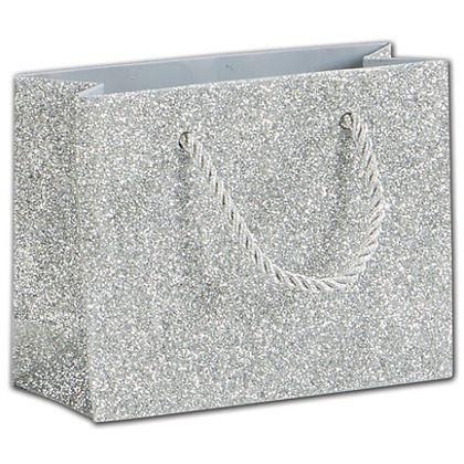 """Silver Sparkle Euro-Totes, 4 x 2 x 5"""""""