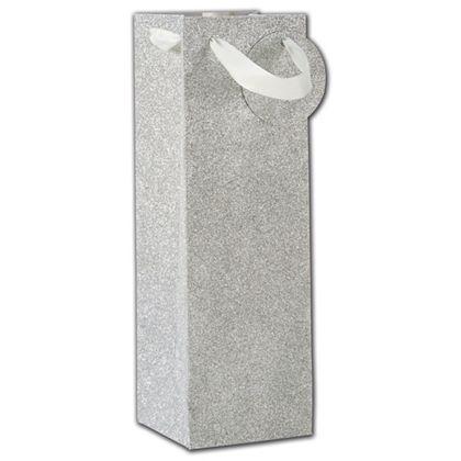 """Silver Sparkle Bottle Euro-Totes, 4 1/2 x 4 1/2 x 14"""""""
