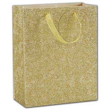 Gold Sparkle Euro-Totes, 8 x 4 x 10