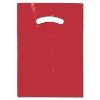 Red Die-Cut Handle Bag, 9 x 12""