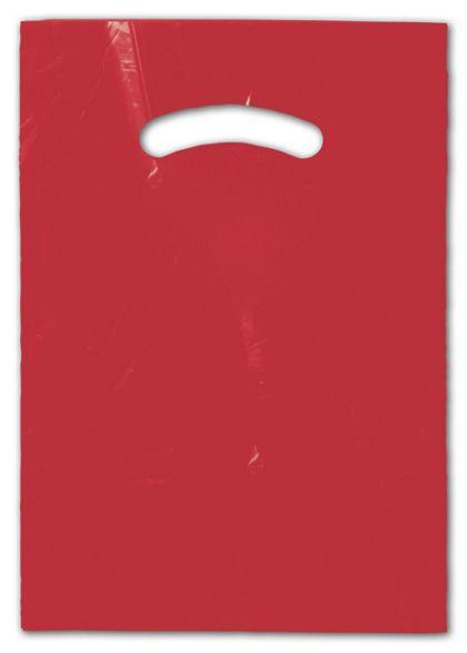 """Red Die-Cut Handle Bag, 9 x 12"""""""