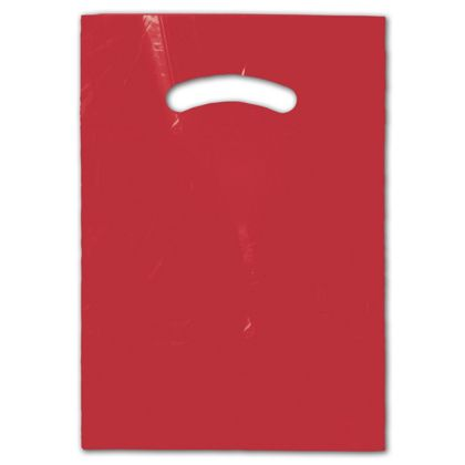 Red Die-Cut Handle Bag, 9 x 12