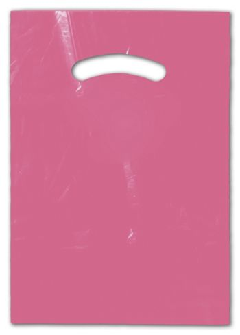 Hot Pink Die-Cut Handle Bag, 9 x 12
